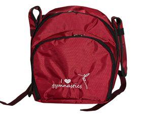 Рюкзак для гимнастики AZ-07-011, бордовый лого