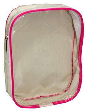Косметичка К-12К белая-розовая