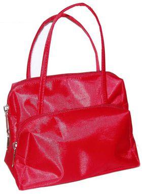 Косметичка на заказ, с карманами красная